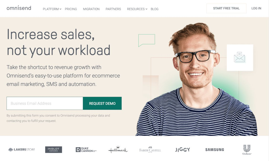 Omnisend - ferramentas gratuitas de e-mail marketing
