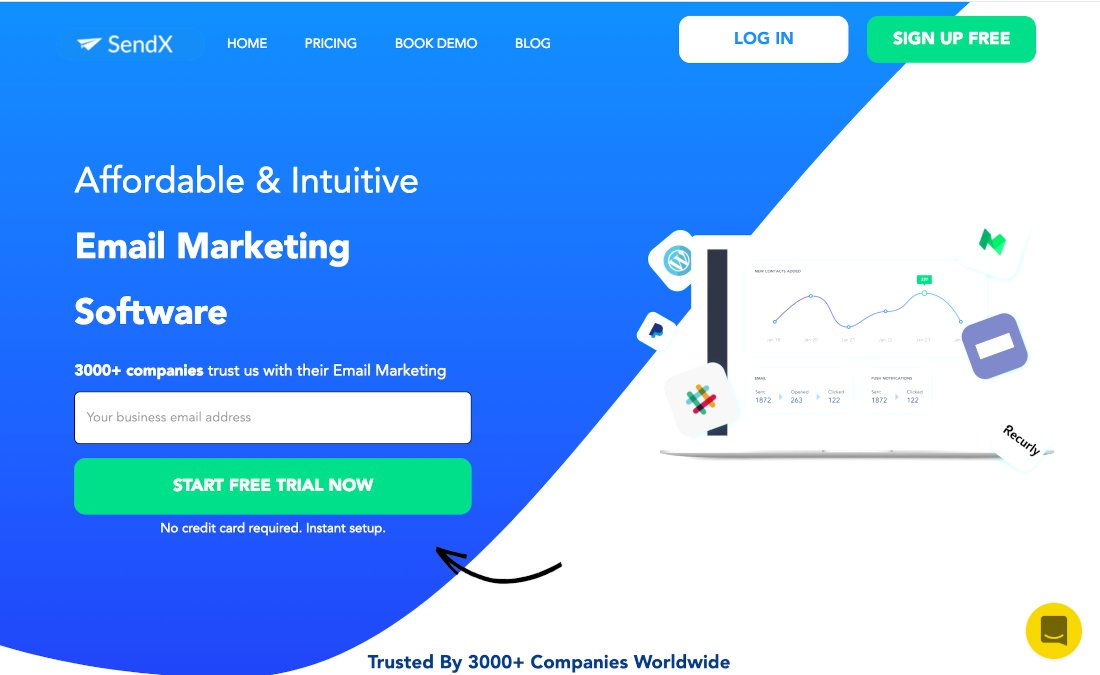 SendX - software de email marketing gratuito para empresas